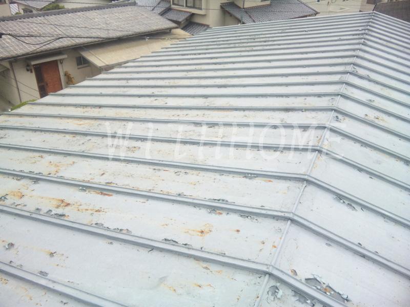 板金屋根 葺き替え前