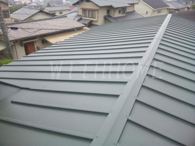 板金屋根葺き替え後 カバー工法