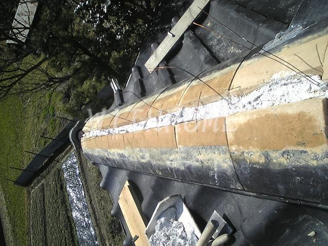 瓦屋根・隅棟修理