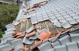地震 瓦屋根