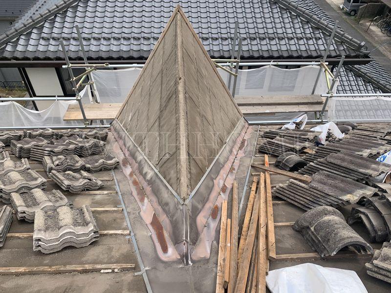 広島市安佐北区H様邸 瓦屋根葺き替え工事 三州瓦 広島の屋根・瓦のお店ウィズホーム 一級かわらぶき技能士