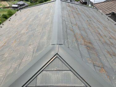 カラーベスト(コロニアル・スレート)→ガルバリウム カバー工法&外壁塗装(安佐北区 N様邸)