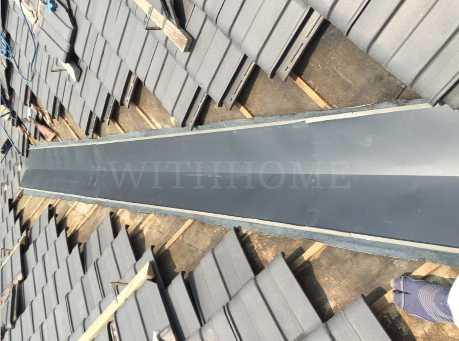 広島の屋根・瓦のお店ウィズホーム谷板金取り換え工事